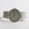 Assista relógio de pulso de quartzo clássico homens relógio de aço inoxidável de volta