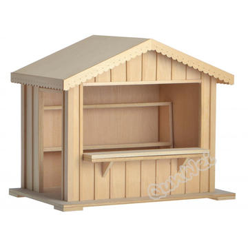 Room box dollhouse in wooden shop