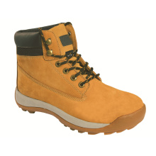 Ufa096 Nubuck Leather Safety Shoes Cowboy Safety Boots