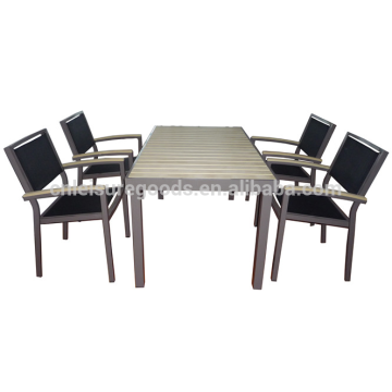 Открытый морден пластик дерево алюминий мебель столик