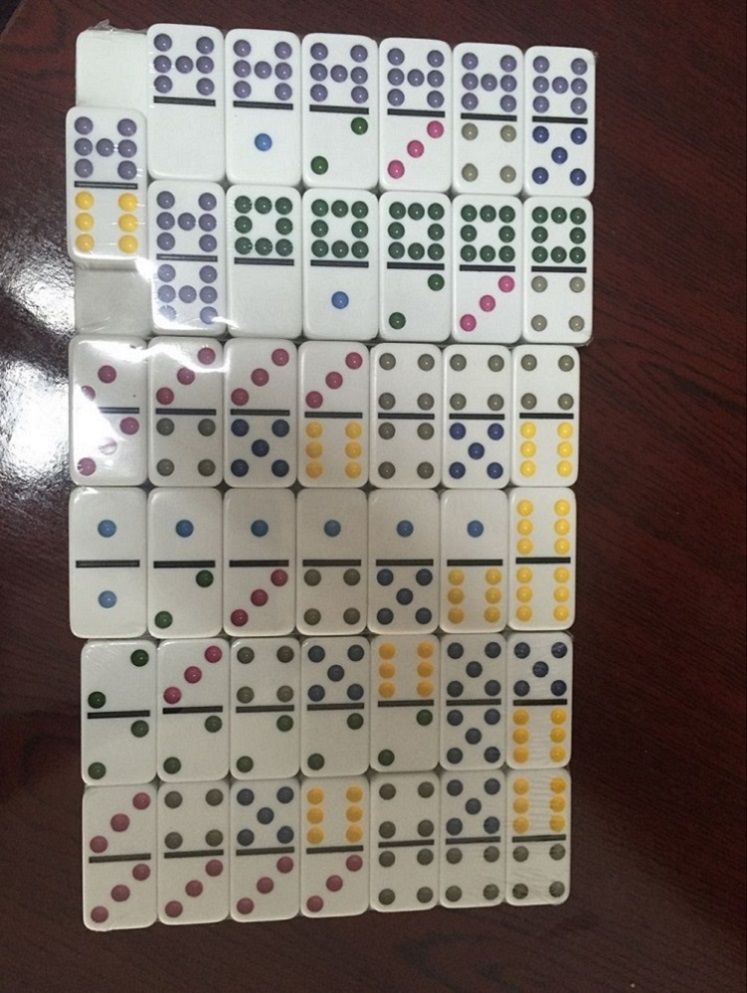 Customized Double 12 Plastic Domino