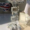 O preço apropriado da qualidade superior do cilindro feito à mão do cristal de vidro da forma concede troféus