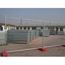 Clôture temporaire galvanisée à chaud avec revêtement haute teneur en zinc