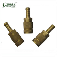 9130003 Safety Brass Hydraulic Quick Release Coupling for 10mm Hose