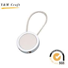 Chaveiro de metal circular, chaveiro para presente (Y03370)