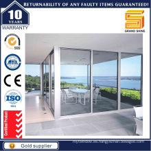 Puerta corredera y aluminio de doble acristalamiento