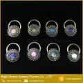 Meilleur ami Nipple Anneau Pas Cher Personnalisé Made Nipple Anneaux Fleur Opale piercing Nipple Bijoux