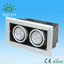 China-Markt Innendekor superlight vertieft geführtes Gitter-Scheinwerfer 6w