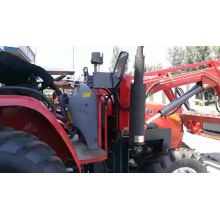 Tracteurs de pelle rétro tractables de 50HP 4WD Trattori Agricoli avec le verger de ferme de chargeur avant