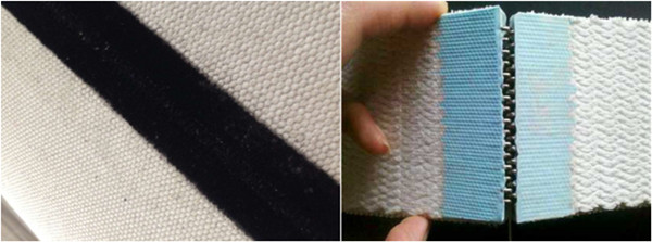 Corrugator Canvas belt seam