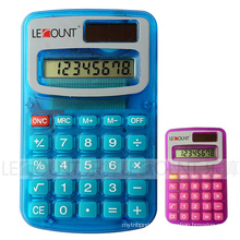 8 Digits Dual Power Pocket Calculator with Opaque & Transparent Colors (LC321A)