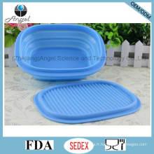 Boîte à lunch en silicone résistant à la chaleur, bol de nourriture en silicone pliable Sfb13