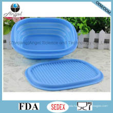 Heat Resistant Silicone Lunch Box, Foldable Silicone Food Bowl Sfb13