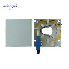 2-Port-FTTH-Terminal Mini-Box Optischer Ausgang Terminal-Box Wand montiert SC optischen Ports ABS-Material