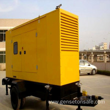 100kw Soundproof Diesel Trailer Generator Set
