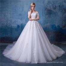 Бисером с плеча-line свадебное платье свадебное платье HA153