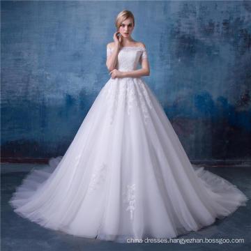 Beaded Off Shoulder A-line Wedding Dress Bridal Gown HA153