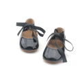 Black Ribbon Mary Jane Baby Girls Zapatos de vestir