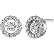 925 Stud Earrings Silver Dancing Jóias de diamante