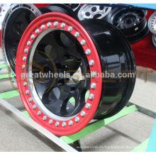 El nuevo tipo genuino Beadlock rueda los bordes 15x7,16x7,17x7 para la venta caliente