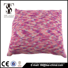 Gradients color acrylic fabric mixed metal soft cushion pillow