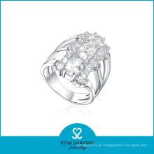 Anel original da prata esterlina da amizade 925 com projeto de Customed (R-0158)
