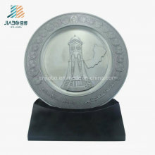 Supply Promotion Casting Custom Antique Silver Commemorate Plate