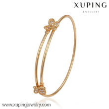 51384- Xuping Trendy Women Adjustable Gold Bangle Jewelry With Butterfly Shape