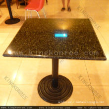 Kkr Restaurant Solid Surface Table Top / Marble Table Tops With Customised 600*600 Mm