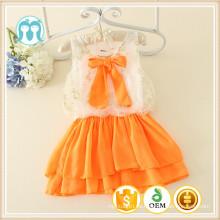 vestidos de muchacha de flor de seguro de calidad con arco venta al por mayor verano niño de niño vestido de verano de niña de 12 años