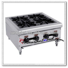Queimador de fogão a gás de argila de aço inoxidável K222 de 4 queimadores