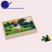Kundenspezifisches pädagogisches Baby scherzt 2D hölzernes Spielwaren-Puzzlespiel