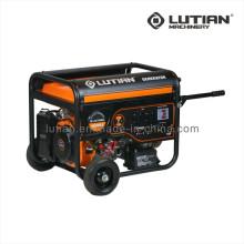 Gerador a gasolina 3.2-6kw conjunto com punho e 8 ′ roda
