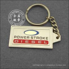 Porte-clés avec signe spécial, accessoires de clé rectangle (GZHY-KA-042)