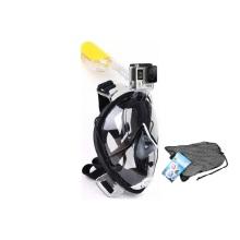 Máscara de snorkel para rosto inteiro com montagem go pro