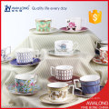 Kurze Knochenporzellan Kaffeetassen und Untertassen Porzellan Teetasse