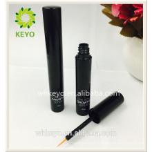 Garrafa de cílios de lipgloss de lipbalm de batom de delineador que embala tubos ovais pretos para cosmético