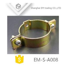 Tipo americano de bronze EM-S-A008 braçadeira de mangueira da movimentação do sem-fim que carimba as peças