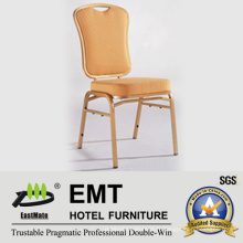 Tissu confortable avec chaise banquette en métal solide (EMT-512)