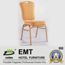 Tecido confortável com cadeira de banquete de metal forte (EMT-512)