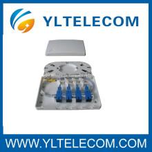 SC SM 9 / 125 Pigtails embalado com 4 porta caixa terminal completo do assembly caixa de FTTH