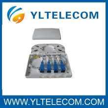 SC SM 9 / 125 Pigtails packed with 4 port terminal box full assembly FTTH Box