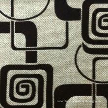 Flock On Flock Fabric For Sofa