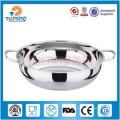 Fondue en acier inoxydable / plaque de cuisson à induction à vendre / fondue indienne en acier inoxydable