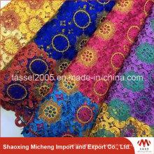 Usine de tissu de dentelle de Guipure multicolore