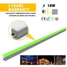 Lumière linéaire LED extérieure de haute qualité multicolore