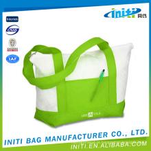 Impermeável eco-friendly portátil fábrica fornecimento saco de algodão shopper eco