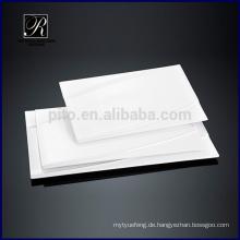 Keramikplatte Essgeschirr beliebte Linie Rechteck Platte
