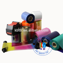 Washable color zebra printer ribbon for satin care label printing