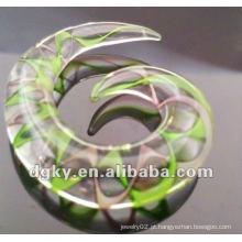 Acrílico orelha espiral cônico corpo piercing jóias orelha calibre espirais